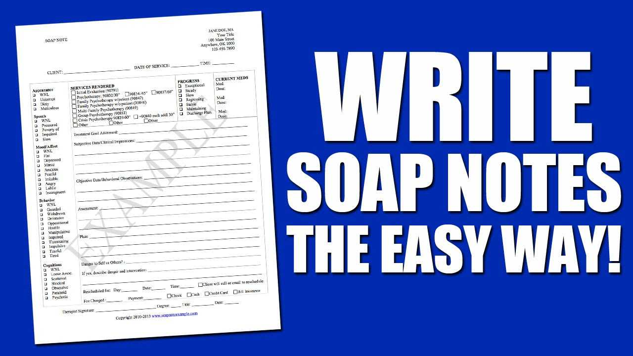 Write Soap Notes The Easy Way Using A Soap Note Template Intended For Soap Note Template Word