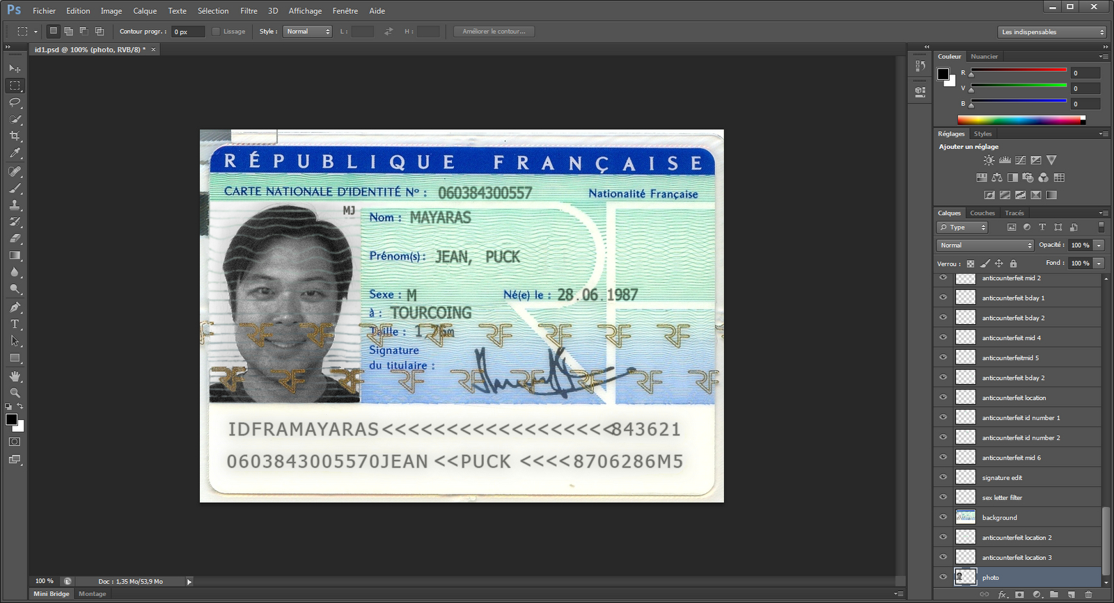 Xylibox: Fake French Administrative Documents Throughout French Id Card Template