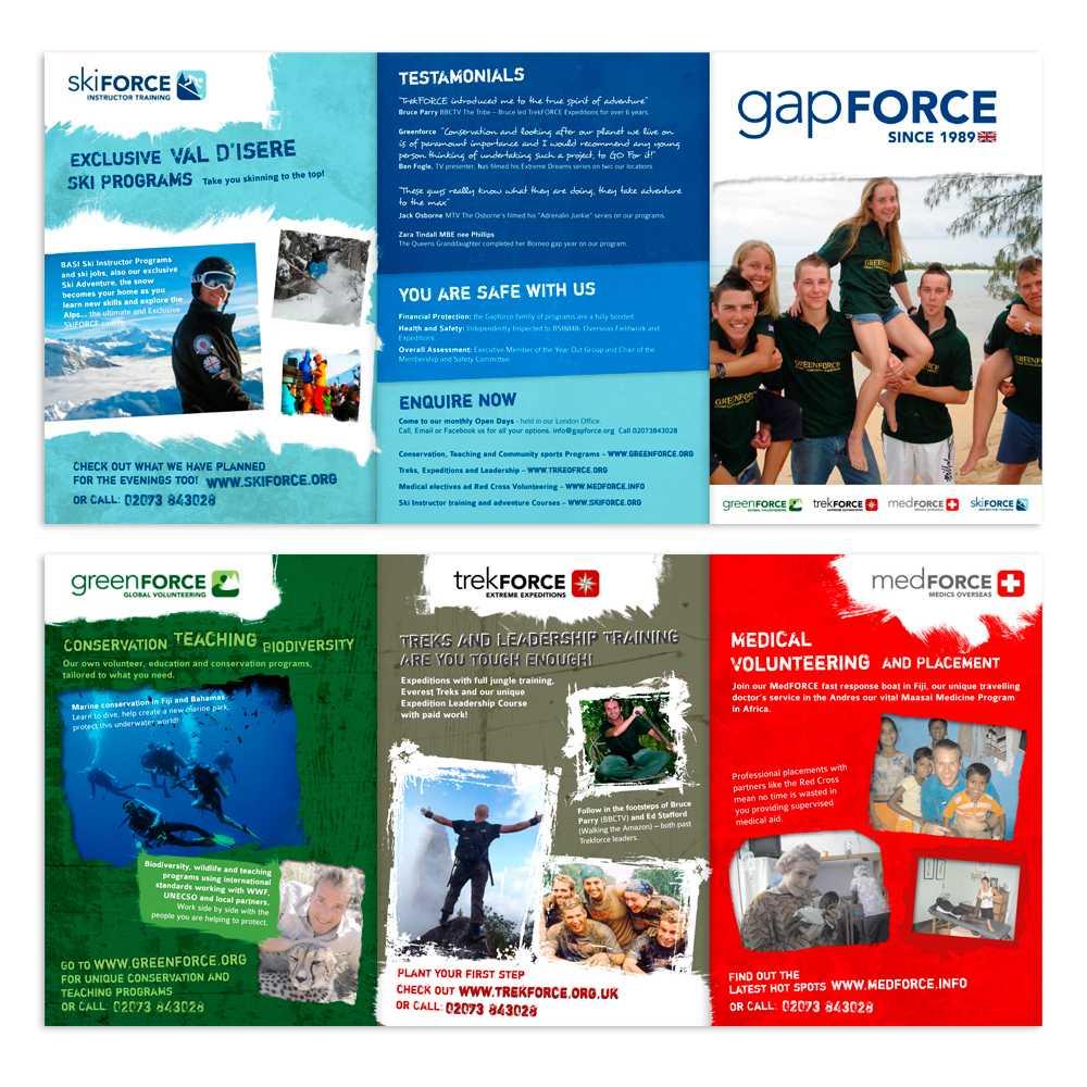 Young Gap Year Global Volunteer A5 Flyer Needed   8 Brochure in Volunteer Brochure Template