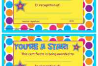 You're A Star End Of The Year Certificates | End Of The for Star Award Certificate Template