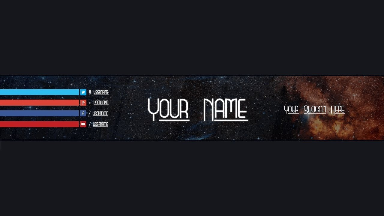 Youtube Banner Template #18 (Adobe Photoshop) In Adobe Photoshop Banner Templates
