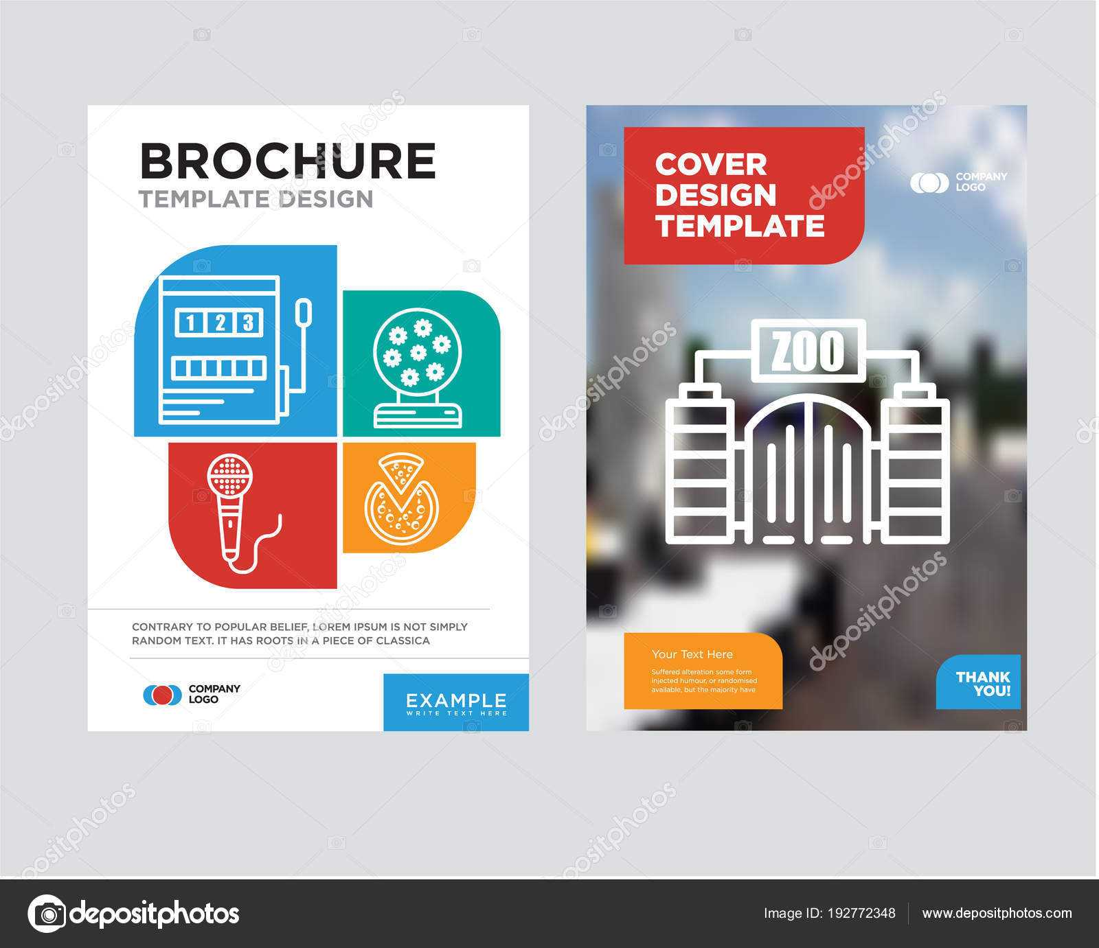 Zoo Brochure Flyer Design Template — Stock Vector Pertaining To Zoo Brochure Template